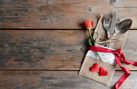Valentines place setting